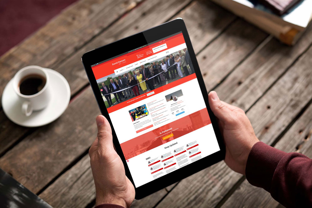 Labour Party Website for David Hanson MP by ePolitixDesign