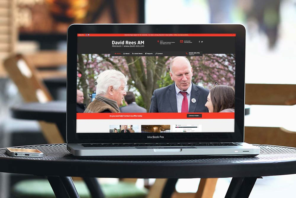 Labour Party Website for David Rees AM by ePolitixDesign