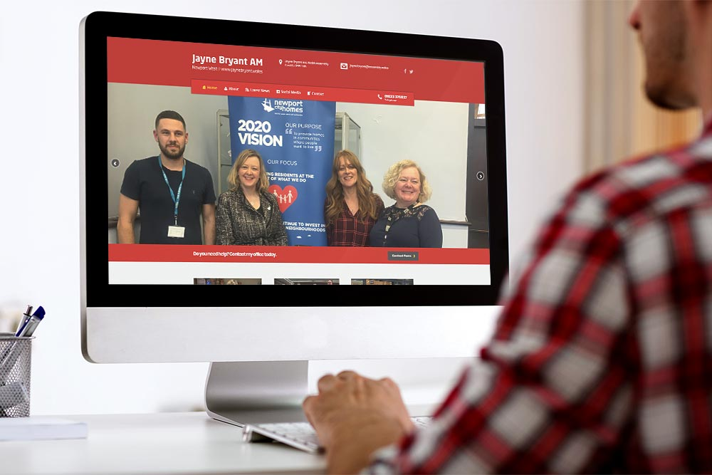 Labour Party Website for Jayne Bryant AM by ePolitixDesign
