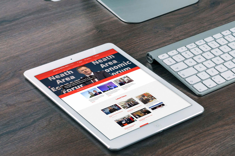 Labour Party Website for Jeremy Miles AM by ePolitixDesign