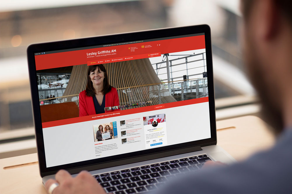 Labour Party Website for Lesley Griffiths AM by ePolitixDesign