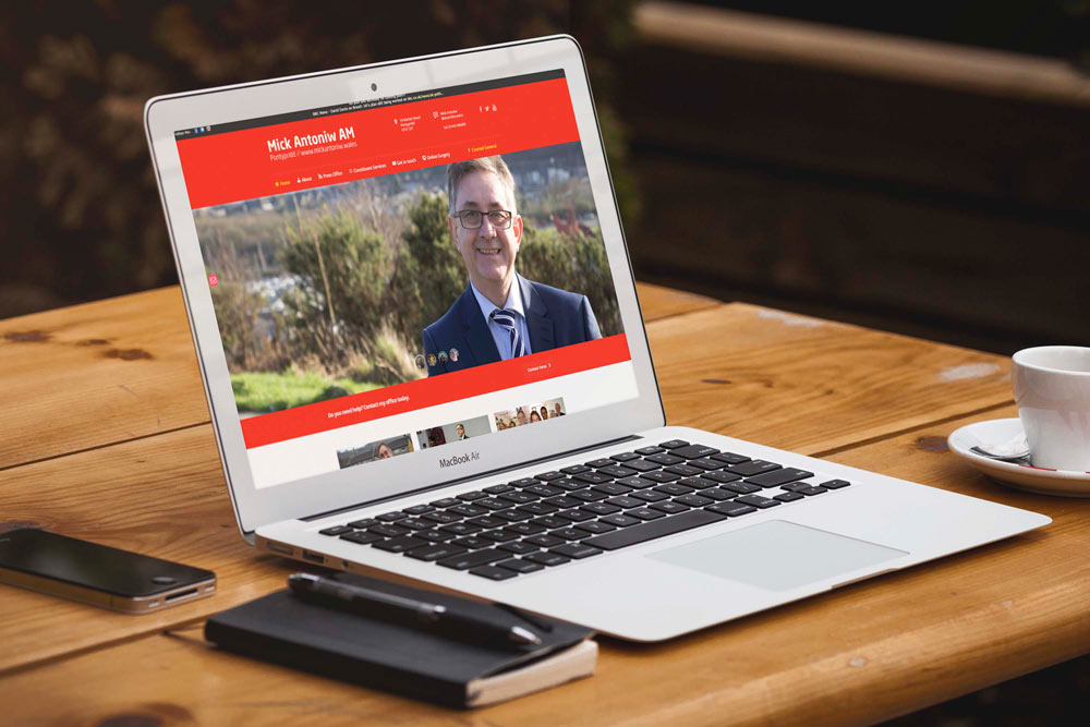 Labour Party Website for Mick Antoniw AM by ePolitixDesign