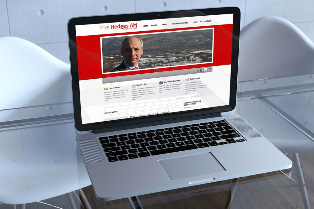 Labour Party Website for Mike Hedges AM by ePolitixDesign