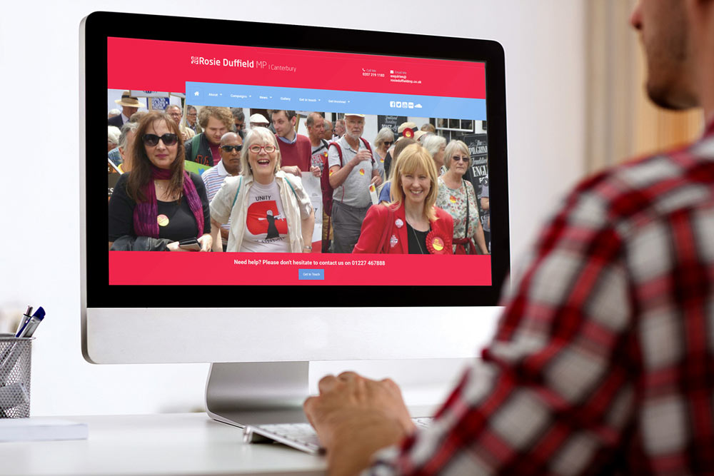 Labour Party Website for Rosie Duffield MP by ePolitixDesign