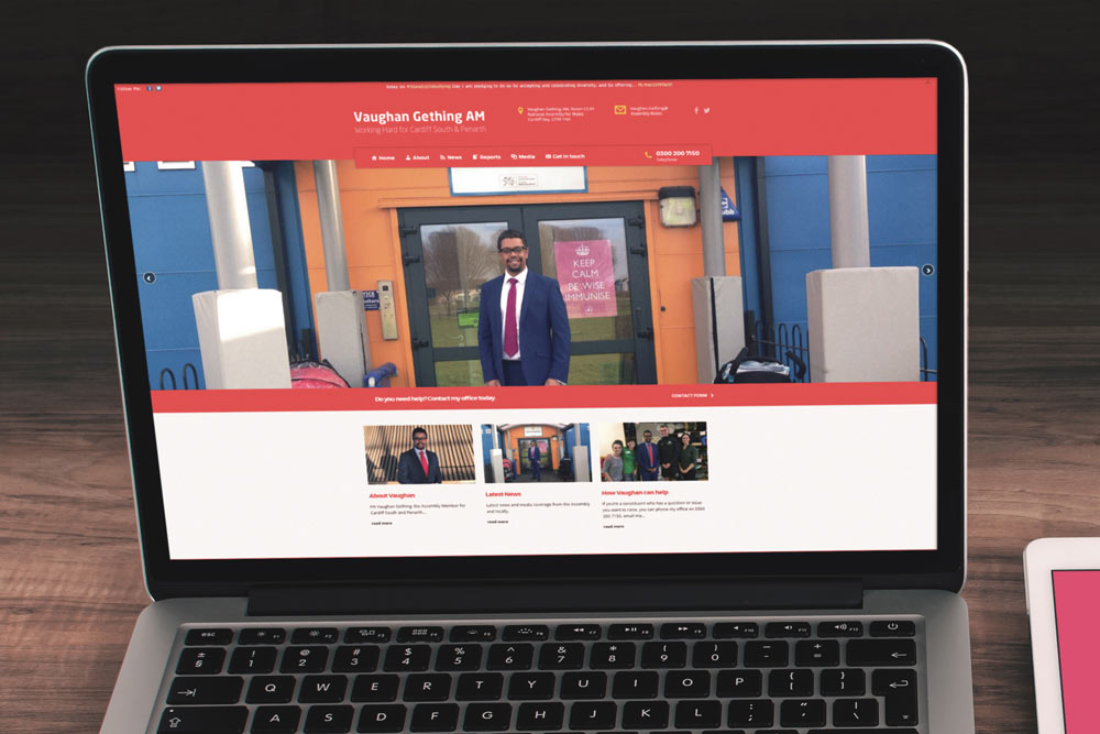 Labour Party Website for Vaughan Gething AM by ePolitixDesign