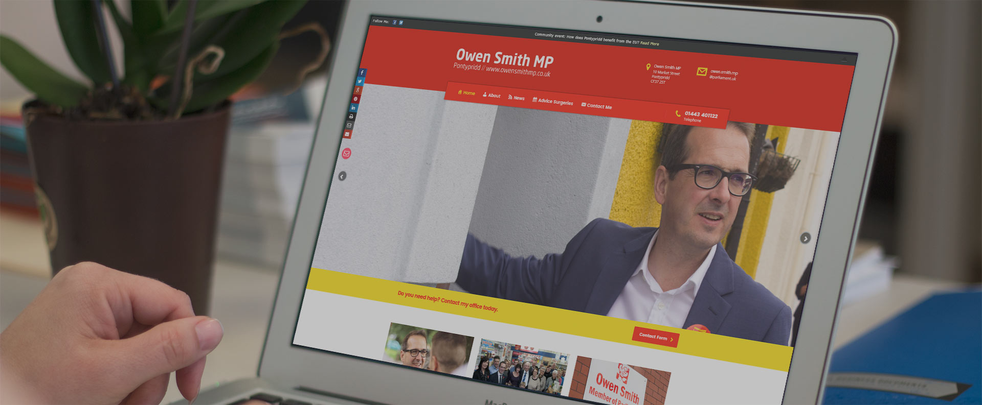 Website Design services for Labour Party MPs, AMs, MSPs, Cllrs and groups