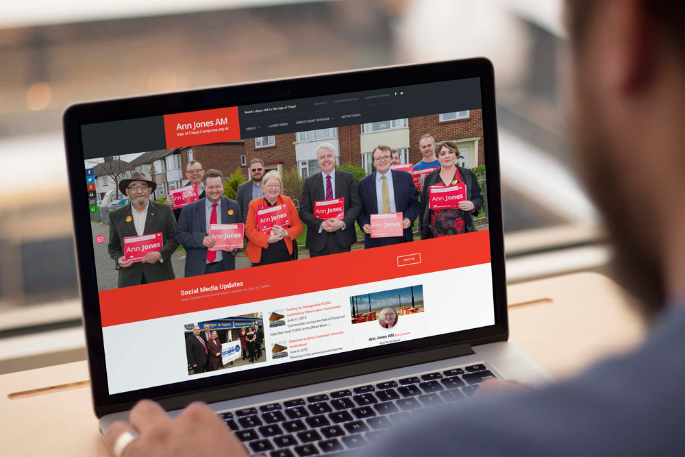 Labour Party Website for Ann Jones AM by ePolitixDesign