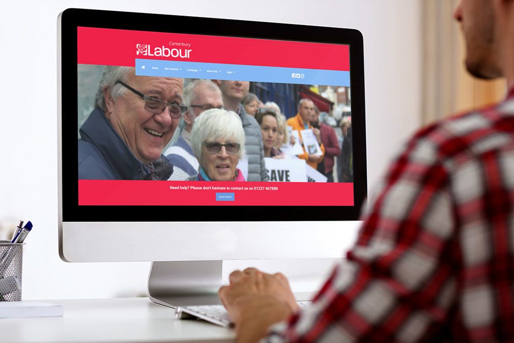 Canterbury Labour Party Website - CLP Website - Website Design by ePolitixDesign