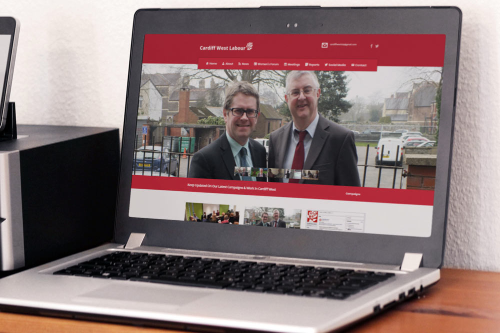Cardiff West Labour Party Website - CLP Website - Welsh Labour Website Design by ePolitixDesign