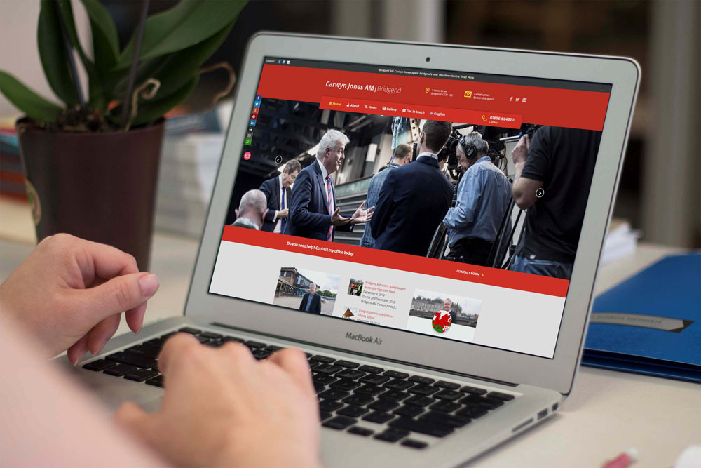 Labour Party Website for Carwyn Jones AM by ePolitixDesign