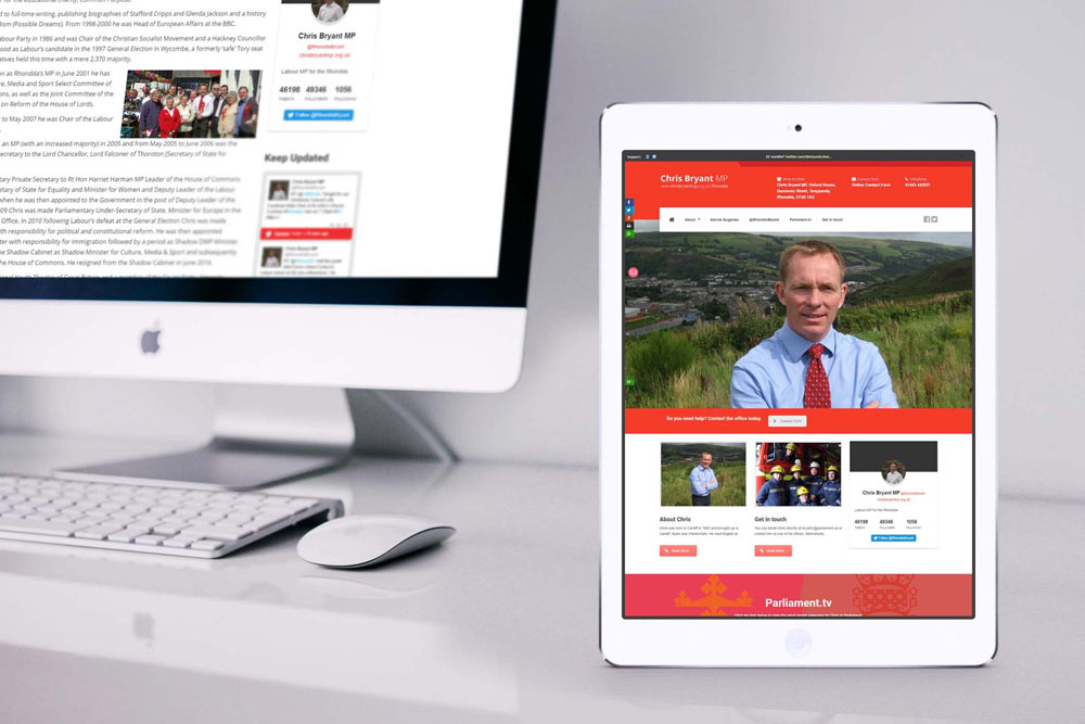 Labour Party Website for Chris Bryant MP by ePolitixDesign