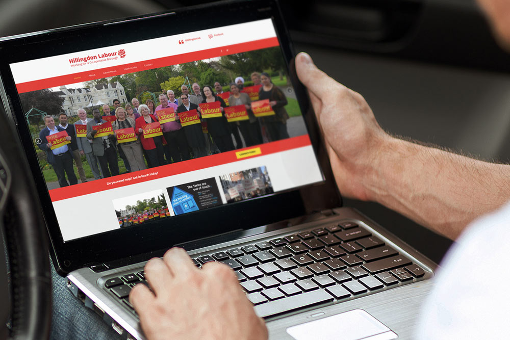 Hillingdon Labour Group Website - Labour Party Website Design by ePolitixDesign
