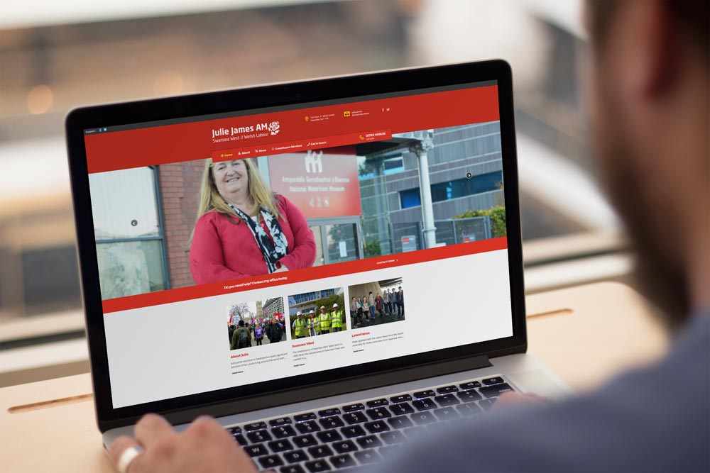 Labour Party Website for Julie James AM by ePolitixDesign