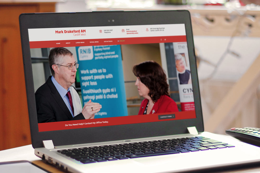 Labour Party Website for Mark Drakeford AM by ePolitixDesign
