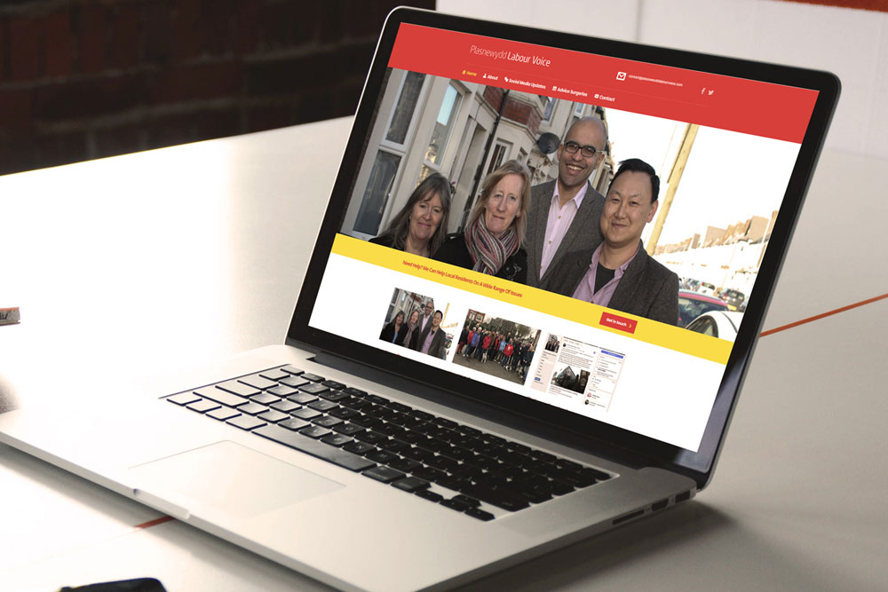 Plasnewydd & Roath Labour - Welsh Labour Website Design by ePolitixDesign