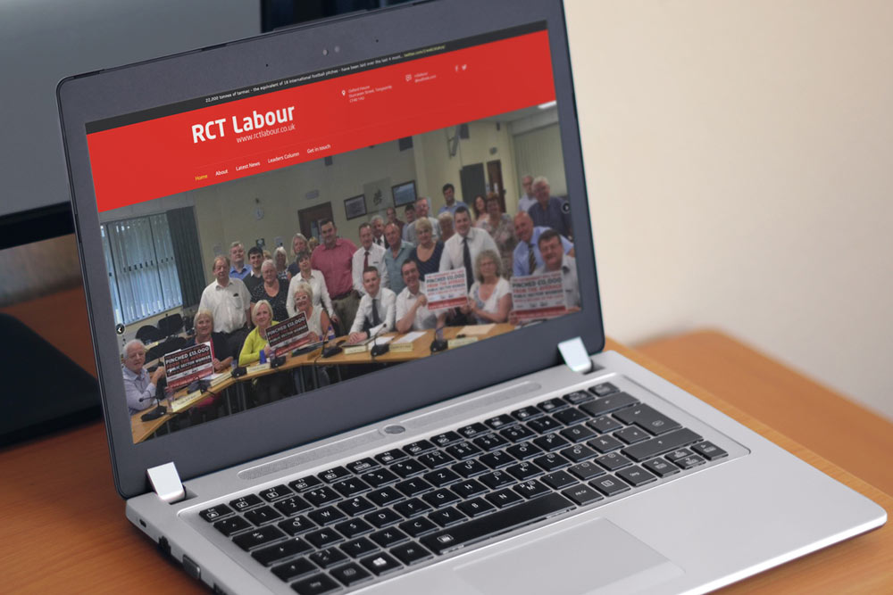 Rhondda Cynon Taf Labour Group Website - Welsh Labour Website Design by ePolitixDesign