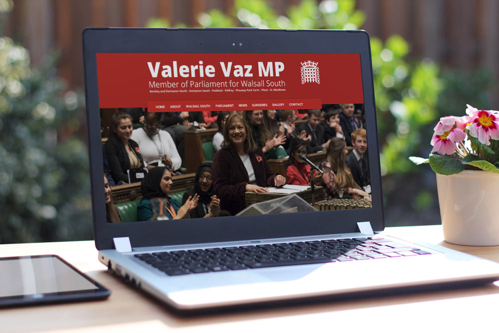 Labour Party Website for Valerie Vaz MP by ePolitixDesign