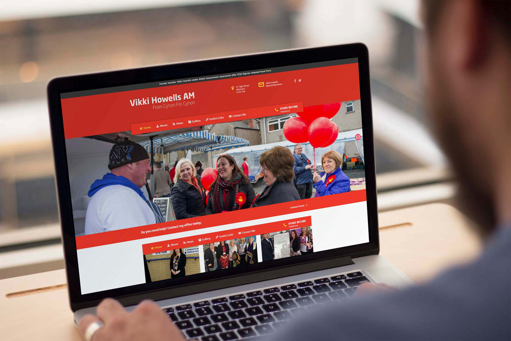 Labour Party Website for Vikki Howells AM by ePolitixDesign